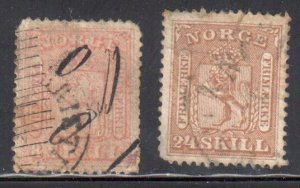 Norway #9 and 10 USED