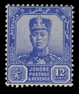 MALAYSIA - Johore GVI SG114, 12c ultramarine, M MINT. Cat £55.