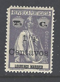 Lourenco Marques Sc # 162 mint hinged (RS)