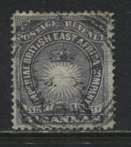 British East Africa 1891 4 1/2 annas used