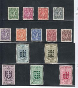 ST LUCIA xx33 # 135-148 VF-MLH QE11 ISSUES CAT VALUE $44.75
