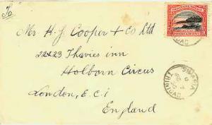 Trinidad 3c Mt. Irvine Bay, Tobago 1936 Siparia, Trinidad to London, England.