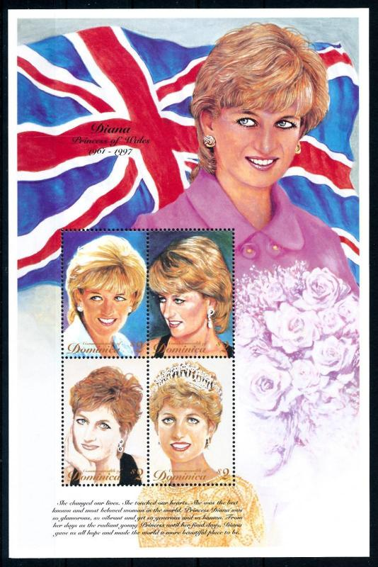 [95331] Dominica 1997 Royalty Princess Diana Sheet MNH