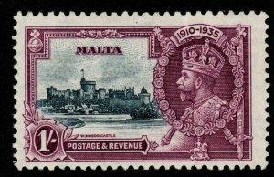MALTA SG213b 1935 1/= S.JUBILEE SHORT EXTRA FLAGSTAFF MTD MINT CREASED