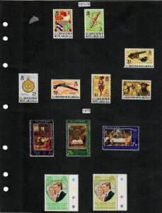 St Kitts and Nevis 104 Stamps/4 Sheets MH/MNH (SCV $80.75) Starting at 5%