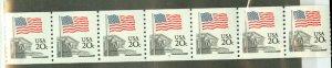 A: US 1895 MNH plate 6 strip of 7 CV $110