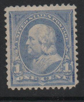 US Stamps 1894 Franklin Sc246 1c Ultramarine  Stamp MH F