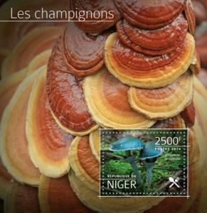 Niger - 2014 Mushrooms - Stamp Souvenir Sheet -   - 14A-534