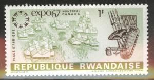 RWANDA Scott 228 MH* Expo 1967 Spear stamp