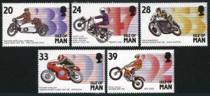 Isle of Man #562-566 MNH CV$4.70 Motorcycle Grand Prix Ariel Square