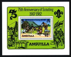 Anguilla Sc#506 75th Anniversary of the Scouting S/S; MNH