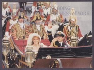 St. Vincent Grenadines 541 1986 Royal Wedding Andrew & Sarah Souvenir Sheet