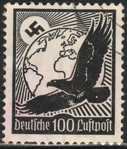 Germany C54, 100pf Early Air Mail Used. F-VF. (2)