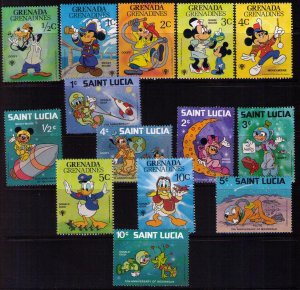 St.Lucia/Granada 1979 Disney Omnibus Mickey Mouse/With Other Disney Characters