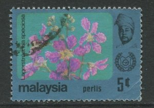 STAMP STATION PERTH Perlis #59 Sultan Syed Putra Flower Type Used 1979