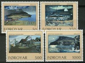 Faroe Islands MNH 212-5 Paintings By Danielsen 1990