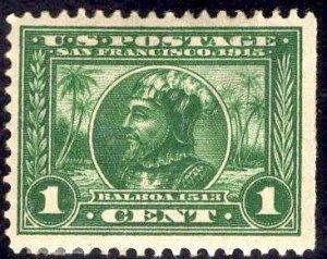 US Stamp Scott #397 Mint Hinged Disturbed OG SCV $15
