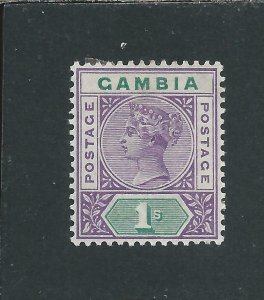 GAMBIA 1898-1902 1s VIOLET & GREEN MM SG 44 CAT £42