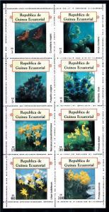 [66909] Equatorial Guinea Local Issue  Flora Flowers Blumen Sheet MNH
