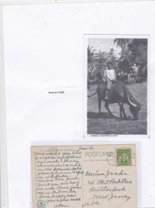 philippines 1934 to u.s.a stamps card Ref 9579