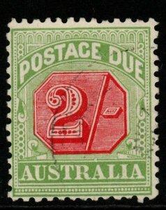 AUSTRALIA SGD70 1909 2/= ROSINE & YELLOW-GREEN FINE USED