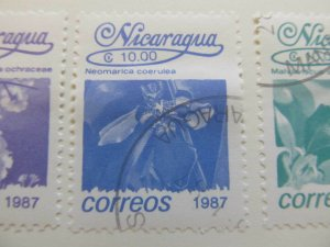 Nicaragua 1987 Flower 10cor fine used stamp A11P11F79