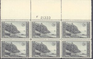 United States #746, Complete Set, Plate Block of 6, 1934, Never Hinged