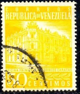 Main Post Office, Caracas, Venezuela stamp SC#709 Used