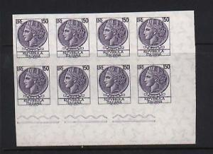 Italy #998S XF Mint Imperf Block Of Eight