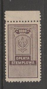 Poland Revenue Fiscal Cinderella stamp 9-20-3 - mnh gum - slight gum disturb