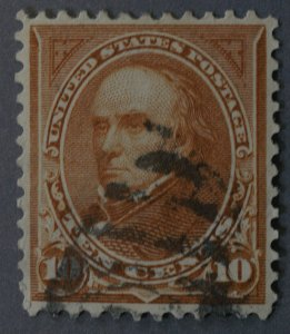United States #283 10 Cent Webster Used