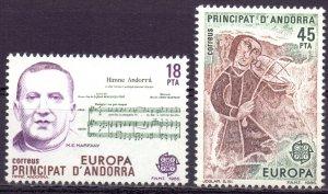 Andorra. 1985. 181-82. Europe. MNH.