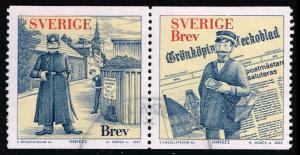 Sweden #2443 Gronkopings Veckoblad Pair; Used (3.75)