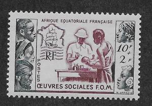 FRENCH EQUATORIAL AFRICA SC# B39  FVF/MOG    1950