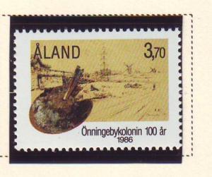 Aland Sc 25 1986 Onningeby Artists Colony stamp mint NH