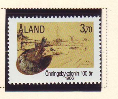 Aland Sc 25 1986 Onningeby Artists Colony stamp mint NH