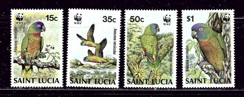 St Lucia 902-05 MNH 1983 Birds (W.W.F.)