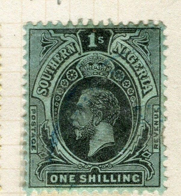 NIGERIA; SOUTHERN 1912 early GV issue fine used 1s. value