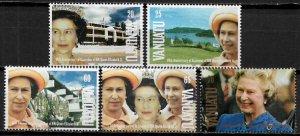 Vanuatu #555-9 MNH Set - Accession to the Throne