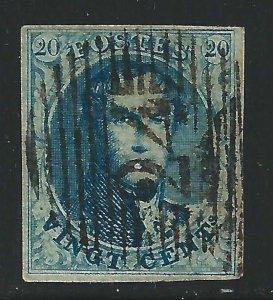 1854 Belgium/Belgium/Belgique - N° 7d King Leopold I ° IN Oval Used Fil. 2