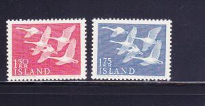 Iceland 298-299 Set MNH Birds, Whooper Swans (A)