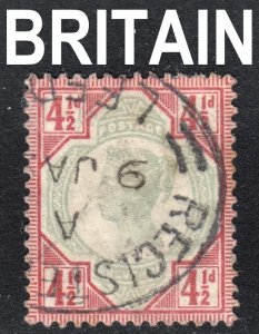 Great Britain Scott 117  VF used with a beautiful registered mail cds.