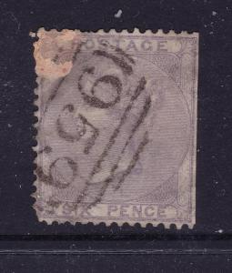 Great Britain a QV 6d from 1855 used filler