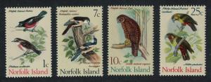 Norfolk Robins Tviller Owl Parrots 4v issue July 1970 SG#103=113