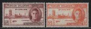 VIRGIN ISLANDS, 88-89, HINGED, 1946 Peace issue