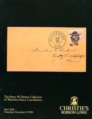 Auction - HOUSER Waterbury Fancy Cancellations, 12.13.90 fcy