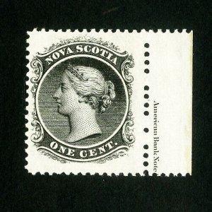 Nova Scotia Stamps # 8 XF Impt single OG NH