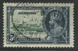 Ascension Island KGV 1935 5d Silver Wedding used