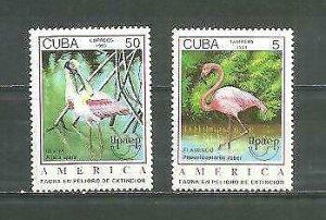 Cub1993 America UPAEP, Birds Scott 3527-28 2v MNH