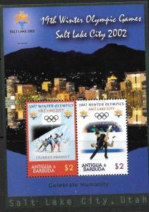 ANTIGUA SGMS3584 2002 WINTER OLYMPIC GAMES    MNH